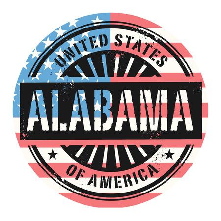 grunge rubber stamp: Grunge rubber stamp with the text United States of America, Alabama, vector illustration