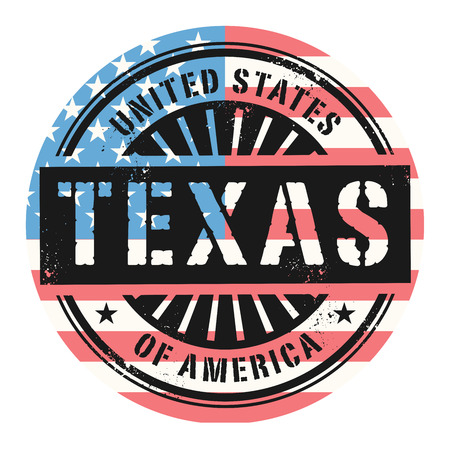 grunge rubber stamp: Grunge rubber stamp with the text United States of America, Texas, vector illustration
