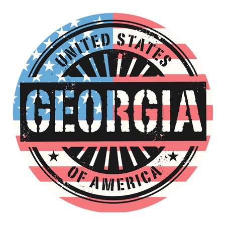grunge rubber stamp: Grunge rubber stamp with the text United States of America, Georgia, vector illustration Illustration