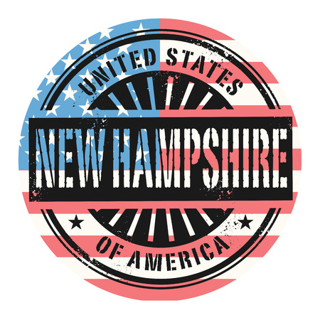 grunge rubber stamp: Grunge rubber stamp with the text United States of America, New Hampshire, vector illustration