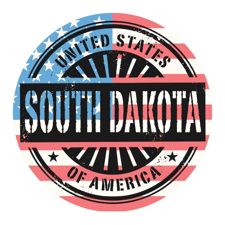 grunge rubber stamp: Grunge rubber stamp with the text United States of America, South Dakota, vector illustration