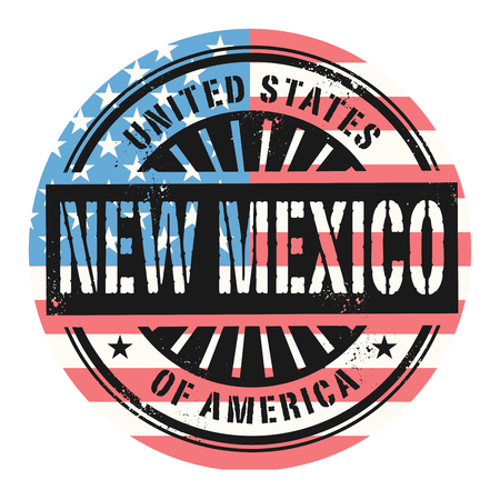 american cities: Grunge rubber stamp with the text United States of America, New Mexico, vector illustration