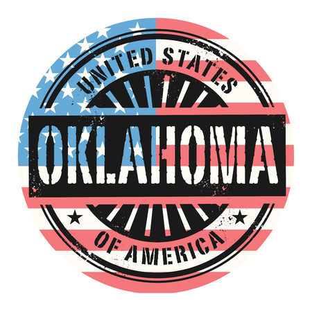 oklahoma: Grunge rubber stamp with the text United States of America, Oklahoma, vector illustration
