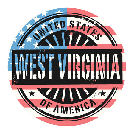 Grunge rubber stamp with the text United States of America, West Virginia, vector illustration Illustration