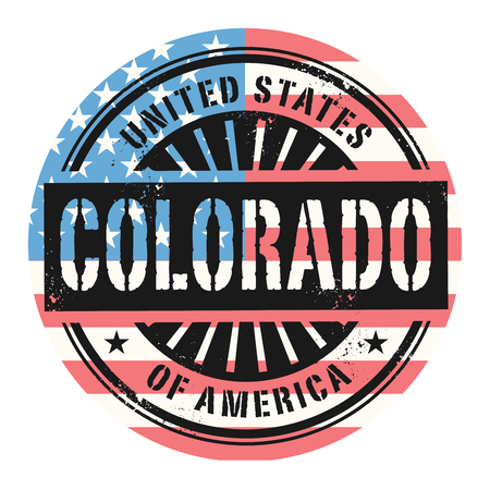 american cities: Grunge rubber stamp with the text United States of America, Colorado, vector illustration Illustration