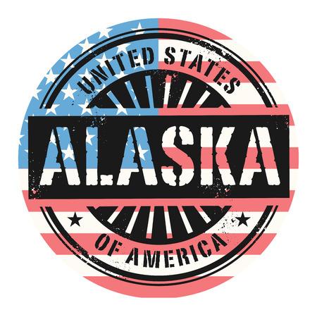 grunge rubber stamp: Grunge rubber stamp with the text United States of America, Alaska, vector illustration