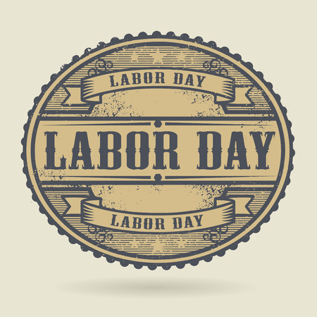 labor market: Vintage rubber stamp with the text Labor Day written inside, vector illustration