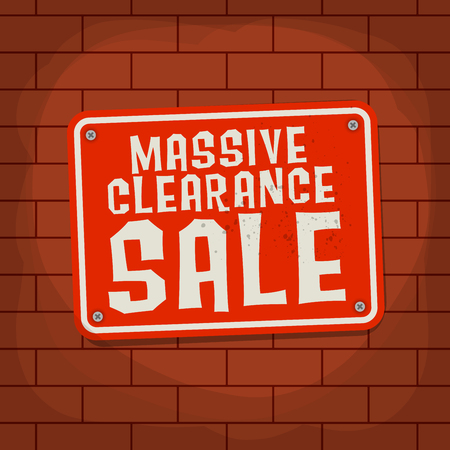 massive: Sign with text Massive Clearance Sale, vector illustration