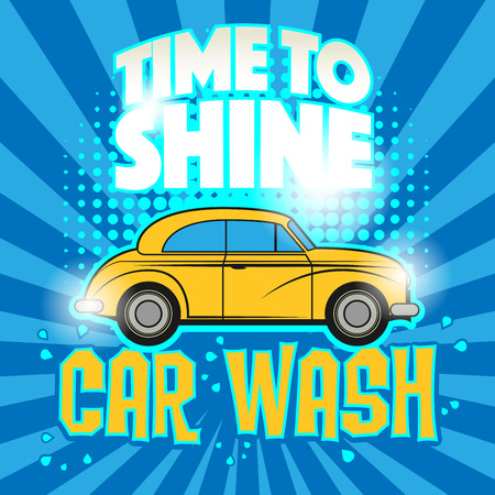 carwash: Abstract illustration with the text car wash written inside, vector Illustration