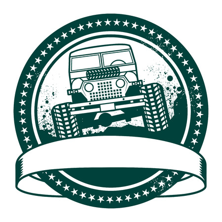off road: Grunge rubber stamp or label, off road adventure, vector illustration