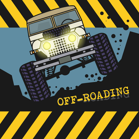 offroad: Off-road vehicle, vector illustration