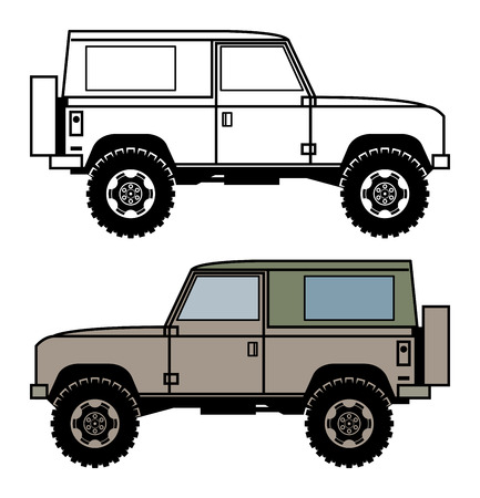 4x4: Off-road vehicle, vector illustration