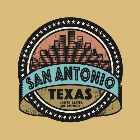 Grunge rubber stamp or label with name of San Antonio, Texas, vector illustration