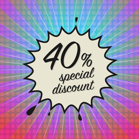 big deal: Comic explosion with text Special Discount, vector illustration Illustration