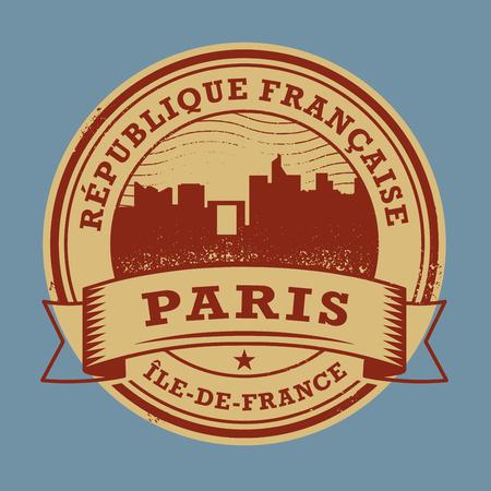 france stamp: Grunge rubber stamp or label with name of France, Paris, vector illustration