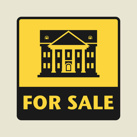 governmental: For Sale icon or sign, vector illustration