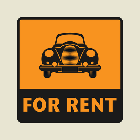 car rent: For Rent icon or sign, vector illustration