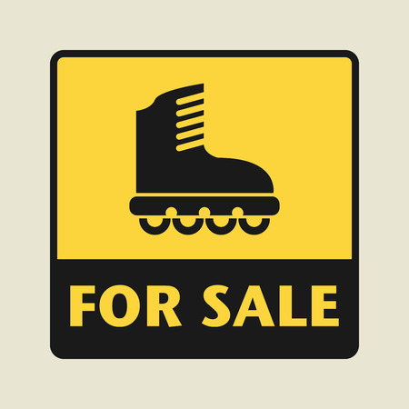 shoelace: For Sale icon or sign, vector illustration