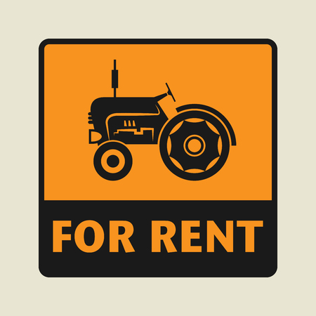 rent: For Rent icon or sign, vector illustration