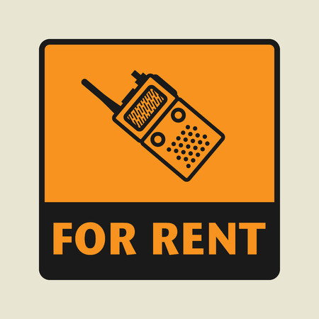 for rent: For Rent icon or sign, vector illustration