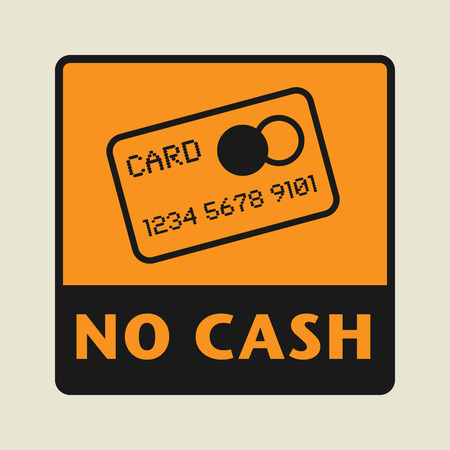Credit card icon or sign, vector illustration