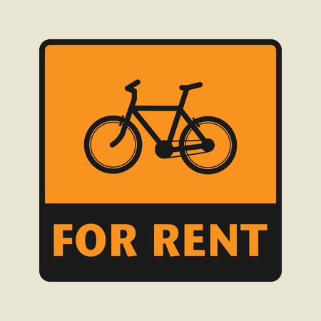 eco notice: For Rent icon or sign, vector illustration