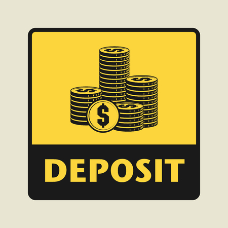 deposit: Deposit icon or sign, vector illustration Illustration