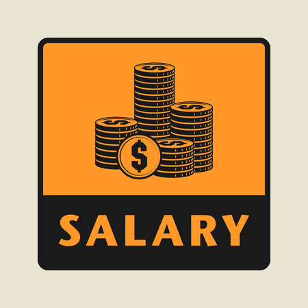 numerical value: Salary icon or sign, vector illustration