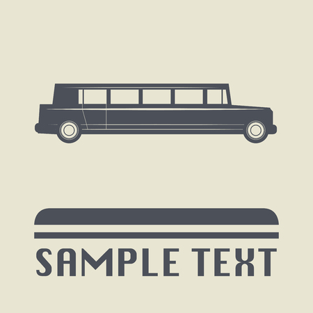 limousine: Limousine car icon or sign, vector illustration Vectores
