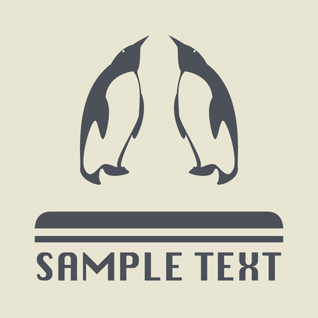 penguin colony: Penguins icon or sign, vector illustration