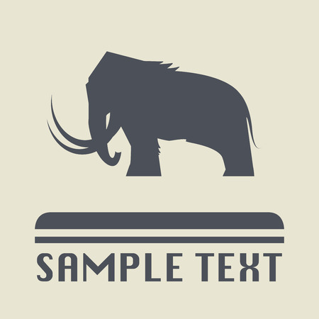 mammoth: Mammoth icon or sign, vector illustration
