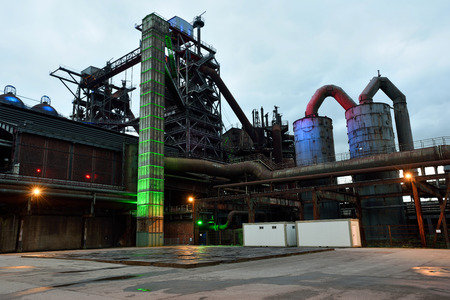 industrial park: Industrial public park in the German city of Duisburg. Landschaftspark Duisburg-Nord is a public park located in Duisburg-Meiderich, Germany Stock Photo