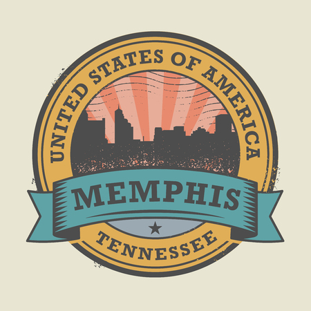 memphis: Grunge rubber stamp or label with name of Memphis, Tennessee, vector illustration