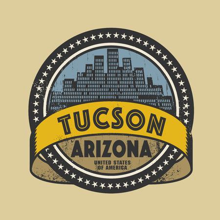tucson: Grunge rubber stamp or label with name of Tucson, Arizona, vector illustration Illustration