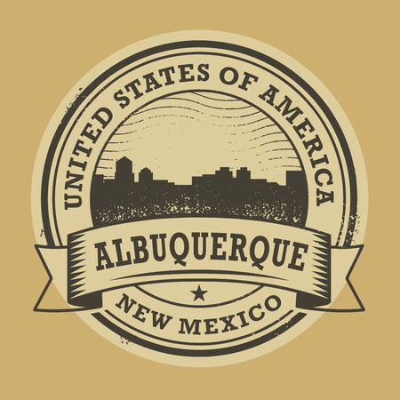 albuquerque: Grunge rubber stamp or label with name of Albuquerque, New Mexico, vector illustration