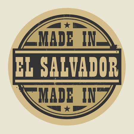 el salvador: Abstract stamp or label with text Made in El Salvador, vector illustration