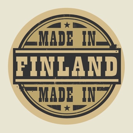 made in finland: Abstract stamp or label with text Made in Finland, vector illustration Illustration