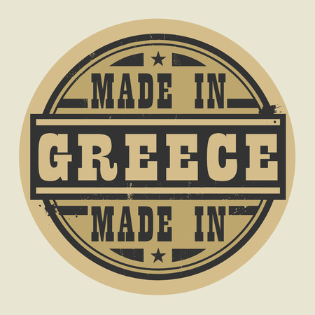 made in greece stamp: Abstract stamp or label with text Made in Greece, vector illustration