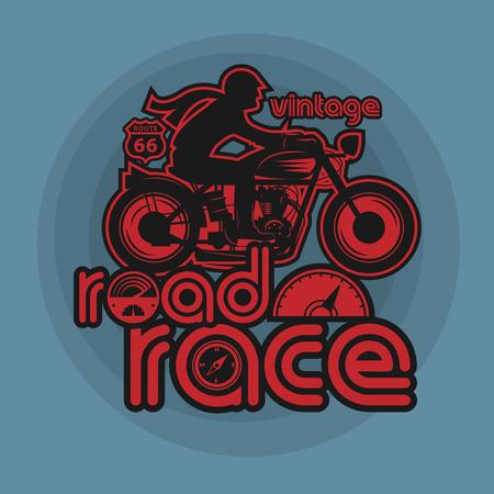 motor cycle: Vintage Motorcycle sport label, vector illustration