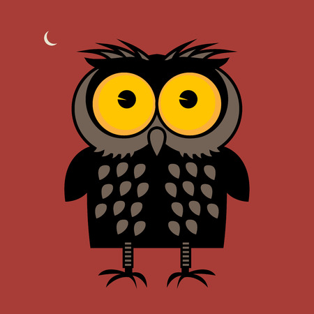 owl illustration: Owl, vector illustration