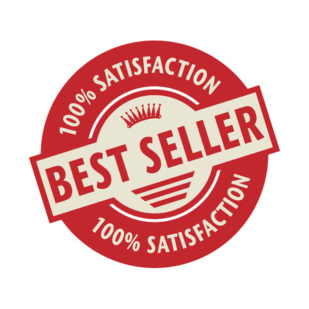 bestseller: Stamp or label with the text Best Seller, vector illustration