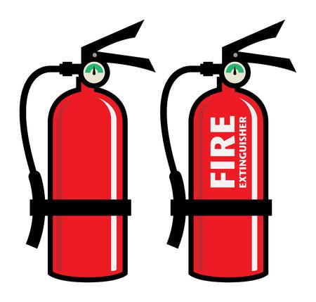 inflammable: Fire extinguisher, vector illustration Illustration