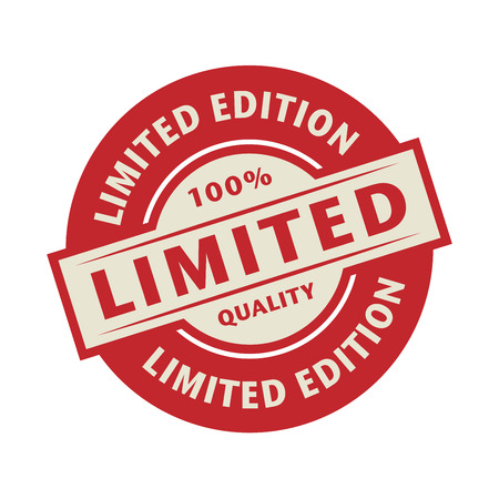 edition: Stamp or label with the text Limited edition, vector illustration