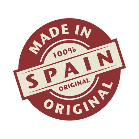 made in spain: Abstract stamp or label with the text Made in Spain written inside, vector illustration