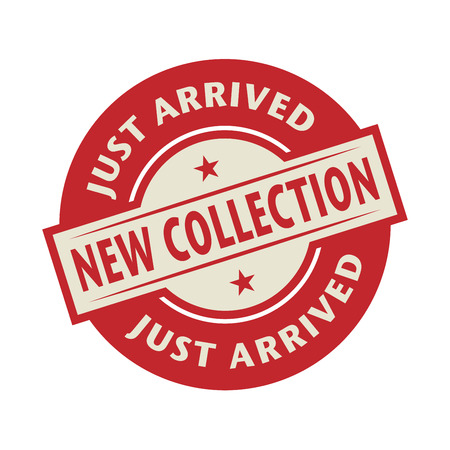 just arrived: Stamp or label with the text New Collection, Just Arrived, vector illustration