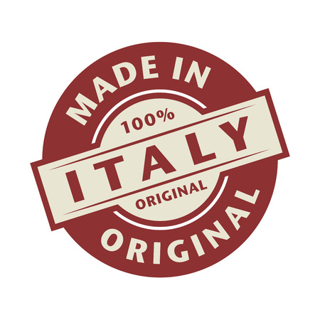 made in italy: Abstract stamp or label with the text Made in Italy written inside, vector illustration