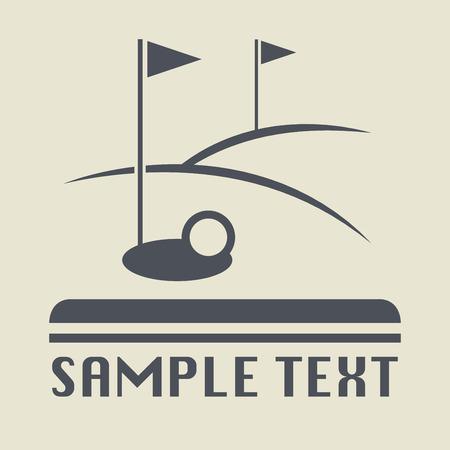 golf field: Golf field icon or sign, vector illustration