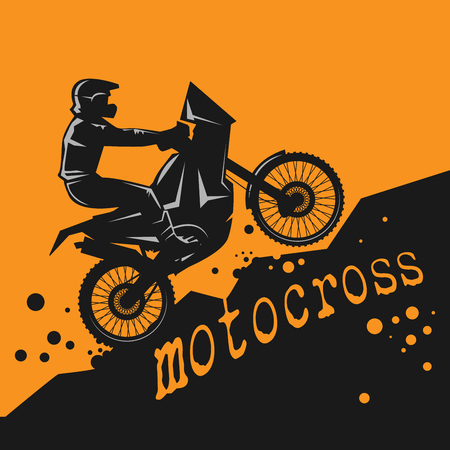 summer tires: Motocross abstract background, vector illustration