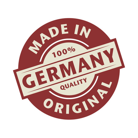 made in germany: Abstract stamp or label with the text Made in Germany written inside, vector illustration