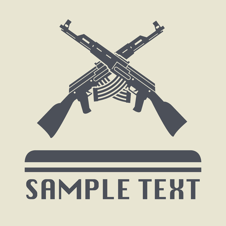 assault rifle: Assault rifle icon or sign, vector illustration Illustration